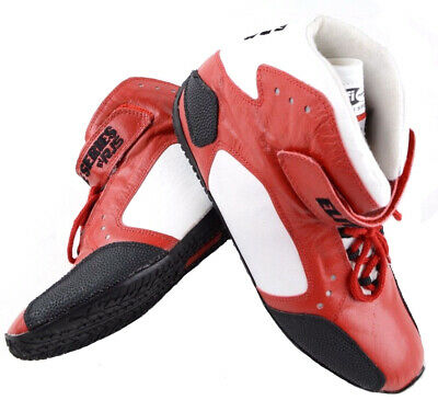 Rjs Racing Sfi 3.3/5 Elite Driving Shoes Leather Mid Top Red Mens 9   Womens 11