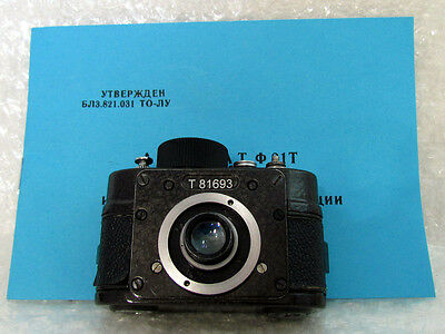 Ajax F-21 Vintage post-WWII USSR Russian Military KGB Spy Film 21mm Mini Camera