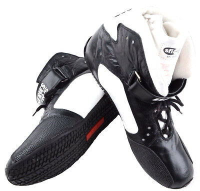 Rjs Racing Sfi 3.3/5 Elite Leather Driving Shoes Mid Top Black Mens 10 Womens 12