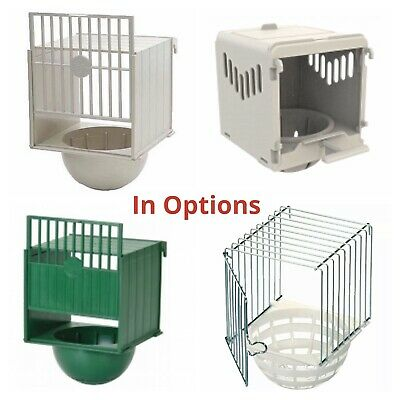 Plastic Canary Nest Box-Bird Nest Breeding Box OPTIONS For External Cage Fixing