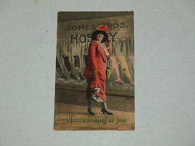 vintage JONES BROS. HOSERY POSTCARD, MADE IN GERMANY ~ NICE