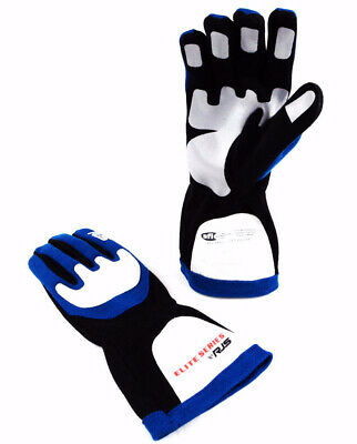 Rjs Racing Sfi 3.3/1 Elite Driving Racing Gloves Blue Size Small 600030123