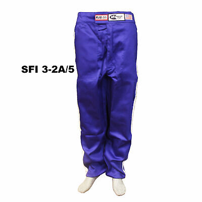 Fire Suit Pants Sfi 3-2A/5 2 Layer Classic Blue Large Rjs Racing