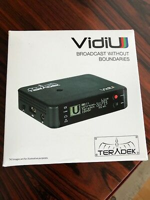 Teradek VidiU Wireless Streaming Encoder Facebook Live Twitch YouTube H264