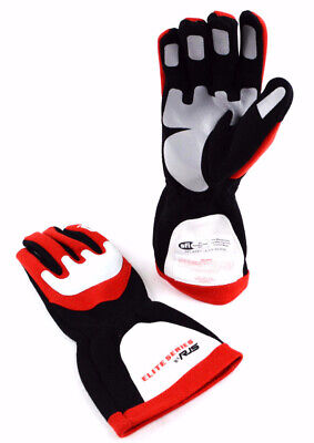 Rjs Racing Sfi 3.3/5 Elite Driving Racing Gloves Red Size 2X Large 600030132