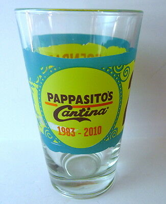 Legendary Tex Mex Beer Glass 2010 Pappasitos Cantina 27 Years