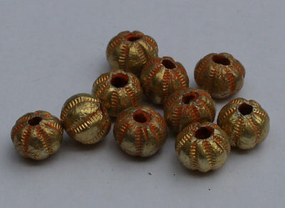 10 X Post Medieval Gold Beads - No Reserve 01