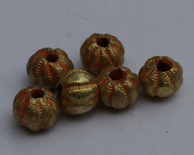 6 X Post Medieval Gold Beads - No Reserve 01