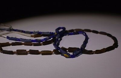2 Ancient Roman Glass Bead Necklaces Circa 2Nd Century Ad - N0 Reserve!