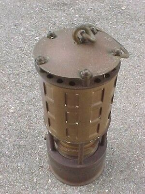 Antique Brass Koehler Mfg Permissible Flame Minors Lantern Light Lamp Never Used
