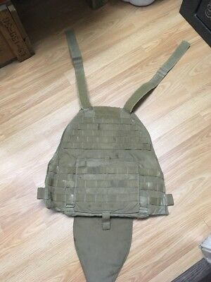Eagle USA Industries Scalable Plate Carrier, Front Panel Coyote Tan, Size Med