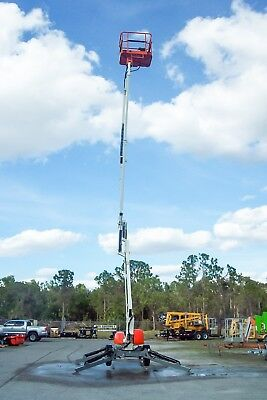 """Snorkel TL39 Towable Boom Lift 43'9"""" Work Height, Only 15'5"""" Long, Only 3300 Lbs"""