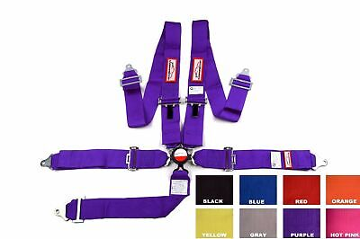 "Sfi 16.1 Racing Harness 5 Point Floor Mount 3"" Cam Lock Purple Any Color"