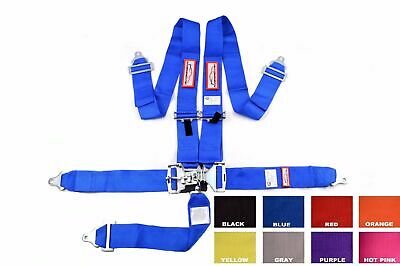"Sfi 16.1 Racing Harness 5 Point Floor Mount 3"" Latch & Link Seat Belt Any Color"