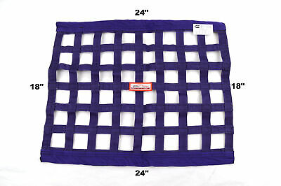 "Racerdirect  Sfi 27.1 Race Window Net Rectangle 24"" X 18"" Purple"