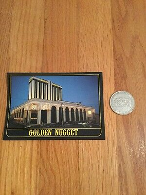 Vintage Golden Nugget Hotel And Casino Token And Postcard Atlantic City