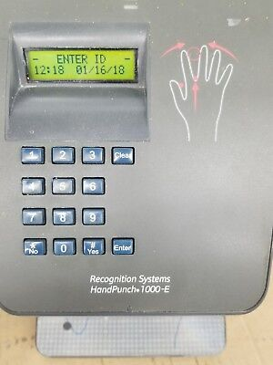 Ingersoll Rand Recognoitions Systems HandPunch 1000-E Biometric Tested
