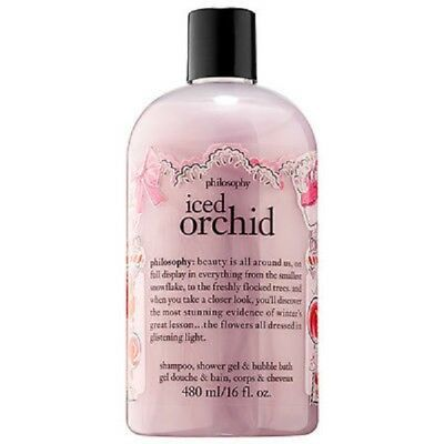 Philosophy ICED ORCHID 3-in-1 Shampoo, shower gel and bubble bath 16 oz