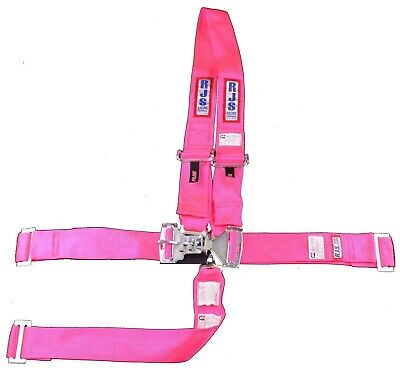 Rjs Sfi 16.1 Latch & Link Harness Dragster U Wrap In 5 Point Hot Pink 1126410