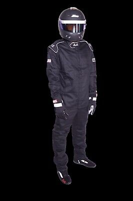 Rjs Racing 2 Piece Elite 2 Layer Fire Suit 3-2A/5 Black Xl 200450106