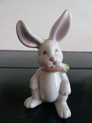 1978 Vintage Fitz And Floyd,  White Bunny Rabbit Figurine