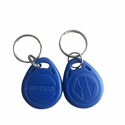 Blue 125KHz Key Fob Unique ID read all RFID