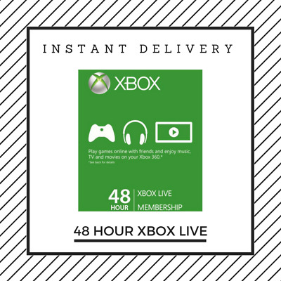 Xbox Live Gold 48 Hours Trial 2 Days Instant Delivery