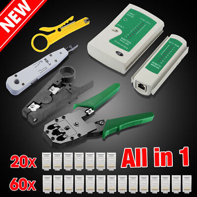 Network Ethernet LAN RJ11 RJ45 CAT5 CAT6 Cable Tester Wire Tracker Tool Kit AU