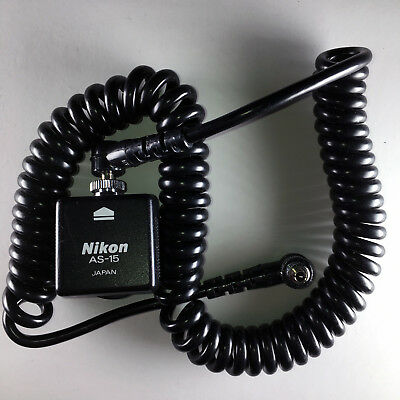 Nikon AS-15 hot shoe adapter with sync cord