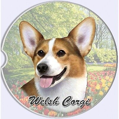 Welsh Corgi Sandstone Absorbent Dog Breed Car Coaster