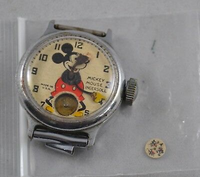 Vintage 1930s Original Ingersoll Mickey Mouse Wristwatch to Restore