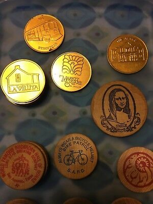 Wooden Nickels and  Tokens.