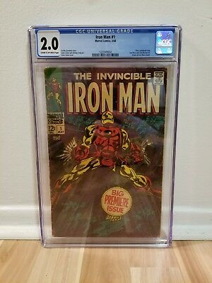 Iron Man #1 CGC 2.0 Origin of Iron Man Retold 1968!!!