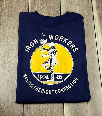 Vintage Iron Workers Local 433 XL Extra Large Paul Corky Martinez T-Shirt Tee