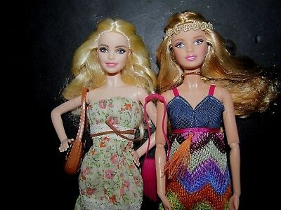 BoHo Hippie Music Festival Look Barbie Roller Skates LOT Jointed + Model Muse