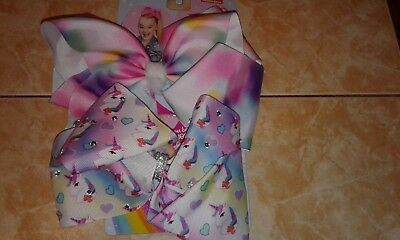 Jojo Siwa Lot of 2 Different Large Cheer Bows 100% Authentic