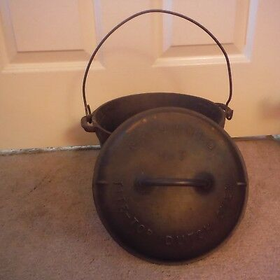 Vintage Griswold Slant cast iron No.7 A2604 tite-top dutch oven lid Erie,PA-USA
