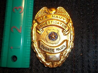 Absolute us navy police badge investigator subase nlon
