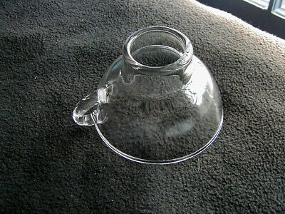 Vintage clear glass funnel canning, wide mouth, handle