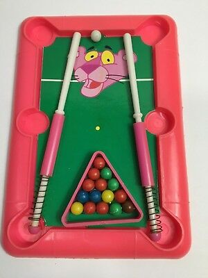 Vintage 1984 The Pink Panther And Sons Pool Table Game Toy,