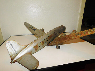 Vintage American Airlines Flagship Tin Airplane Toy Nc2100 Parts Repair