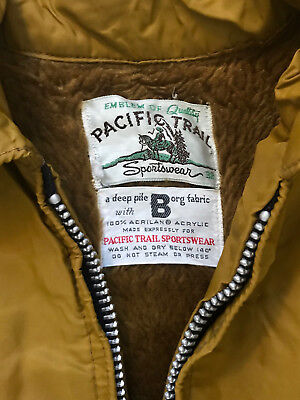 Vintage Pacific Trail Sportswear Lined Jacket Made in USA Medium M 38 Poler