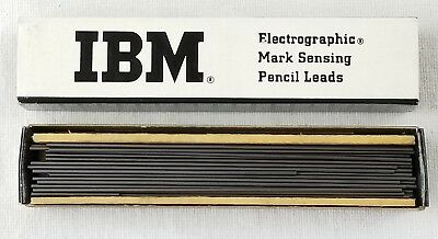 Vintage IBM electrographic mark sensing pencil leads small box full made in USA