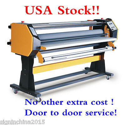 """110V 67"""" Stand Frame Full-auto Single Side Wide Format Hot/Cold Laminator +Stand"""