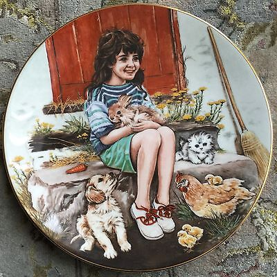 "Royal Worcester ""Friday's Child's"" Collector Plate & Certificate By Pam Cooper"