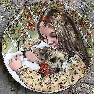 "Royal Worcester ""Wednesday's Child's"" Collector Plate & Certificate (Pam Cooper)"