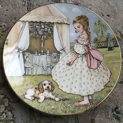 "Royal Worcester ""Tuesday's Child's"" Collector Plate & Certificate By Pam Cooper"