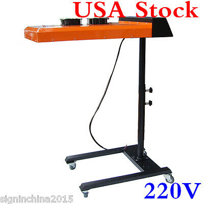 "US Stock! 220V 3600W 20"" x 24"" Double Fan Temperature Controller Flash Dryer"