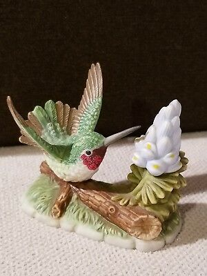 Porcelain Black Chinned Hummingbird-Branson Collectables-1996