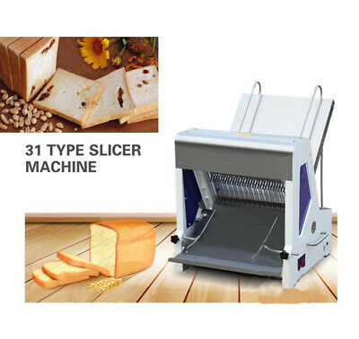 Commercial 110v  Heavy Duty Automatic Electric Bread Slicer Machine 0.47""